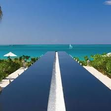 The infinity bar at Grace Bay Club, on Provo in Turks & Caicos, a sublime spot for a Caribbean wedding