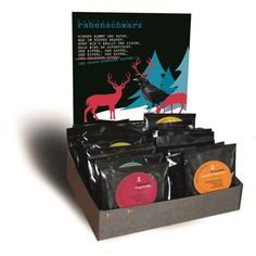 Kaffee-Adventskalender Rabe, Lunch Box, Etsy, Cards, Advent Calendar, Gifts, Black, Kids, Maps