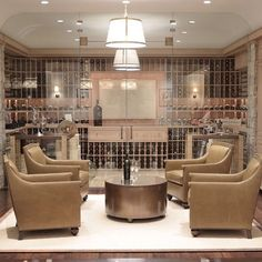 I'm not sure if I love wine so much as the stunning spaces in which to store it…