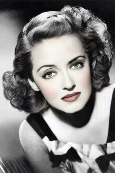 Beautiful tinted photo of Bette Davis