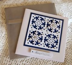 Snow flake punch card