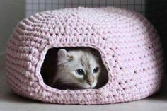 Katzenhöhle Häkeln Flottes Nädelchen Häkeln Häkeln Stricken