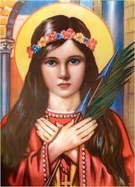 Saint Philomena Patron Saint of Children,Virgins,Lost Causes and Mothers.