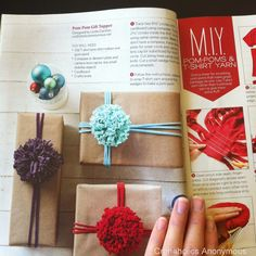 Craftaholics Anonymous T-shirt Pom Poms featured in Make it Yourself!