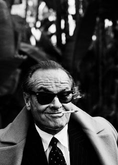 Jack Nicholson looking cool wearing Wayfarer sunglasses