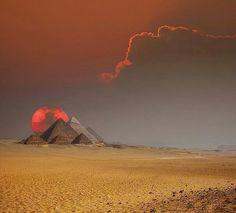 Sunrise over Giza