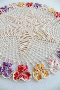 """Edited By: Maggie Weldon Skill Level: Intermediate Sizes: Large(pictured) - About 14 ½ Medium - About 13"""" diameter Small - About 11"""" diameter Coaster - About 6½"""" diameter Materials: Size 20 Crochet Co"""