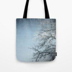 Winter scene Tote Bag by karidesign Winter Scenes, Poplin Fabric, Hand Sewn, Original Artwork, Stress, Reusable Tote Bags, America, Shoulder, Cotton