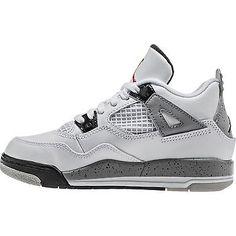 free shipping f400a fdb03 Air Jordan 4 Retro IV PS Sz 12.5 C White Cement 2016 Nike Logo 308499 104  for sale online   eBay