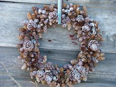 Hey, I found this really awesome Etsy listing at https://www.etsy.com/listing/478131177/frosted-mixed-pine-cone-wreath