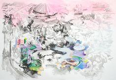 """#Pintura  """"Eso que te va sucediendo""""  140 x 197 cm  Acrílico sobre canvas  2012"""