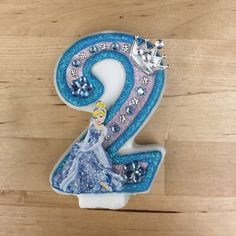 "Handcrafted ""Cinderella"" or ANY Themed Birthday Candles- Decorated To Your Liking by AmbersBirthdayJewels on Etsy https://www.etsy.com/listing/235479623/handcrafted-cinderella-or-any-themed"