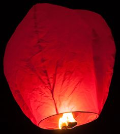 Red sky lanterns are a beautiful alternative to the traditional white version, and look incredible when everyone releases then into the night sky! Plus, they're a premium, biodegradable design that comes fully assembled and ready to go. They're great for outdoor parties!
