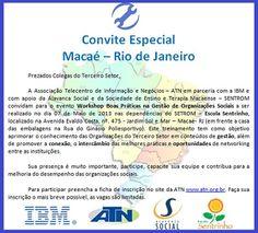 Alavanca Social ministrará Workshop relacionado ao Terceiro Setor em Macaé-RJ