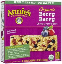 Annie's Homegrown Granola Bars - Berry Berry - 0.98 oz - 6 ct