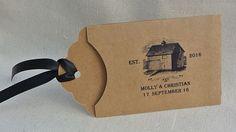 Lottery Ticket Holder,barn wedding, rustic wedding,   Wedding Favorsm countrty wedding by abbey and izzie designs
