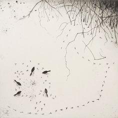Fiona Watson Tête à Tête  etching