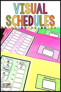 Visual schedules for the autism classroom