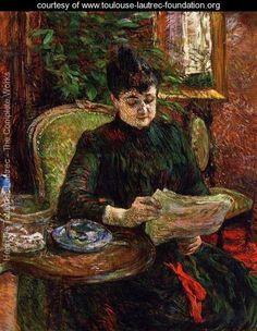 Cuadro: Madame Aline Gibert de Toulouse Lautrec. Más en: http://www.toulouse-lautrec-foundation.org/
