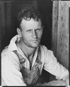 Floyd Burroughs, cotton sharecropper. (Walker Evans: Hale County, Alabama, 1935 or 1936}