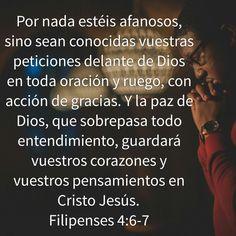 Galeria de Versiculos Biblicos: Filipenses 4:6-7