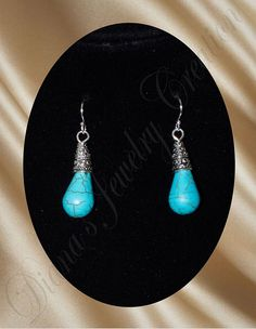 Turquoise dyed Howlite via DJC - Handmade jewelry. Click on the image to see more!
