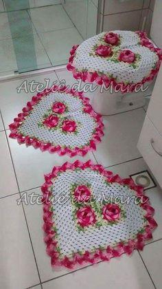 Crochet Applique Patterns Free, Doily Patterns, Crochet Towel, Crochet Doilies, Bathroom Crafts, Beautiful Crochet, Crochet Projects, Diy And Crafts, Afghan Crochet Patterns