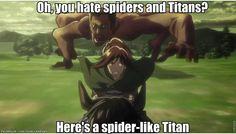 Spider-like titan
