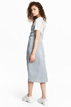 Платье-комбинация - Светло-серый - Женщины | H&M RU 1