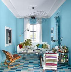 marokkanische fliesen zementfliesen interirdesign ideen wohnung design anders denken mosaik fliesen kreative wandgestaltung blau