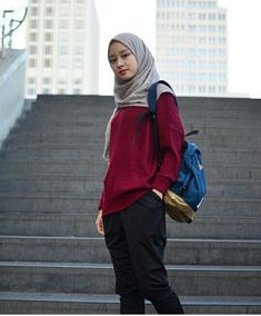 Trendy fashion hijab style chic outfit Ideas - Trendy fashion hijab style chic outfit Ideas You are in the right place about fashion trends Here w - Hijab Casual, Hijab Chic, Hijab Fashion Casual, Casual Hijab Styles, Street Hijab Fashion, Muslim Fashion, Modest Fashion, Trendy Fashion, Modest Outfits