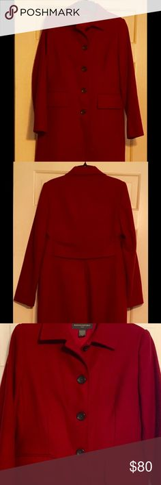 "Banana Republic Outlet Coat From BR Outlet. 80/20 Wool/Nylon.  Size XS.  Shoulder 16""; chest 18""; length 36"" and sleeve length 24"".   Rarely worn. Banana Republic Jackets & Coats"
