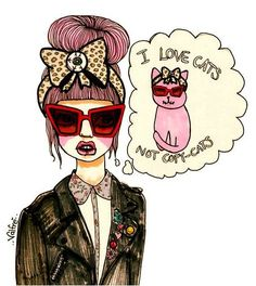 I Love Cats... not copycats ha I love this quote and I love my style and no one can copy that. Grace.Taylor