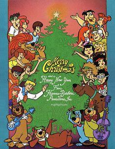 Hanna-Barbera Christmas Card, 1970s