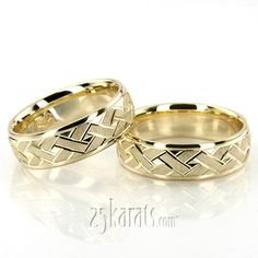 Greek key Wedding Band Sets, His and Hers Wedding Bands, Matching Wedding Rings, Wedding Ring sets Mens Gold Rings, Gold Rings Jewelry, Gold Wedding Rings, Gold Engagement Rings, Rings For Men, Jewellery, Ring Set, Love Ring, Couple Ring Design