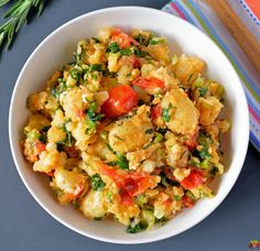 Crushed Potatoes with Herbs and Tomatoes