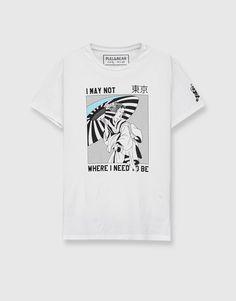 Camiseta print delantero - Estampadas - Camisetas - Ropa - Hombre - PULL&BEAR España