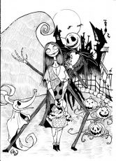 Fantastical The Nightmare Before Christmas Coloring Pages