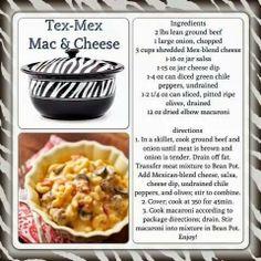 Tex Mex Mac  Cheese (using Bean Pot from Celebrating Home)