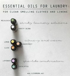 Essential Oils for Laundry - Clean Mama