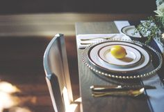 Gold Wedding Table Scape with Lemon Detail http://thephotographix.com/homestead-manor-elopement-style-shoot/