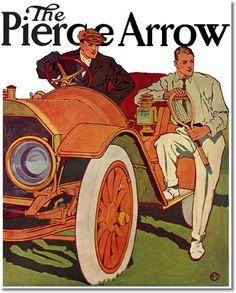 Edward Penfield ~ The Pierce Arrow