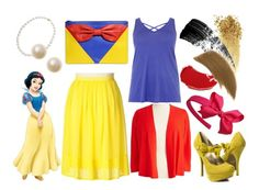Snow White [Plus Size Disney - Princess Collection] by starberry-cupcake on Polyvore featuring polyvore, fashion, style, Jones New York, Qupid, RED Valentino, Ellis Faas, NARS Cosmetics, Hourglass Cosmetics, tarte and clothing