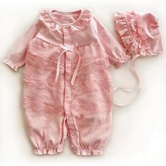 New cotton lace 2pcs baby girls #bodysuit +hat #jumper suit baby #clothes sleep b,  View more on the LINK: 	http://www.zeppy.io/product/gb/2/151831380712/