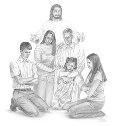 Family Prayer | Jean Keaton Art