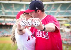 Engagement Photos: Quintessential SoCal CUTE save the date sports fans