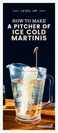 Back in Ernest Hemingway's day, Martinis didn't just come by the glass; they came by the pitcher. Here's how to make an extra-cold pitcher of Martinis like Ernest Hemingway. Vodka Martini, Martinis, Cocktails, Champagne Cocktail, Champagne Bottles, Martini Recipes, Speakeasy Party, Raspberry Liqueur, Health