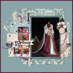 Digital Scrapbooking layout made with Timeless by Mad Genius Designs