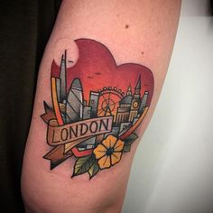 London by @goldsmithtattooer at Parliament Tattoo in London England. #heart #london #home #goldsmithtattooer #parliamenttattoo #london #england #tattoo #tattoos #tattoosnob
