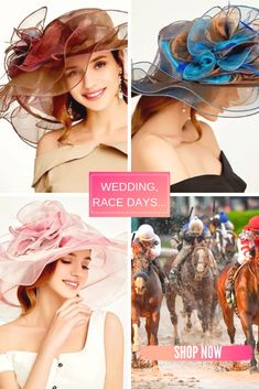 The Perfect Accessory for Any of Those Outdoor Formal Events this Season. #race hats #wedding hats for women #wedding hats for guests #wedding hats for mother of the bride #ascot hats #kentucky derby hats #prix de diane hats